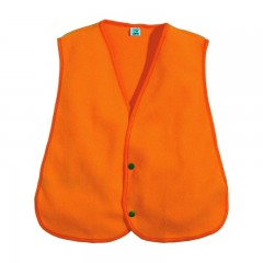 Backwoods blaze orange silent microfleece safety vest
