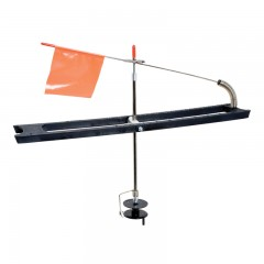 plastic tip-up rig, cheap tip up rig, ultra lightweight tip up rig, ice fishing tip up rig, ice fishing rig, compac plastic tip up rig, compac rig, compac tip up rig, deluxe ti up rig, compac deluxe tip up rig