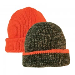Backwoods reversible camo to blaze orange knit hunting touque