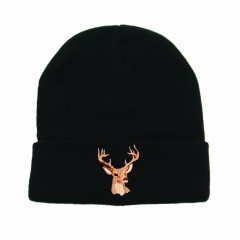 Backwoods Thinsulate black knit hunting touques with deer logo