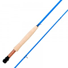 Emery Jupiter junior blue fly fishing rod for kids with Titanium and stainless steel guides