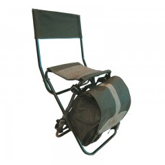 Backwoods polyester chair with a built in fold down backpack