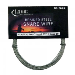 Backwoods braided stainless steel hunting snare game trapping wire