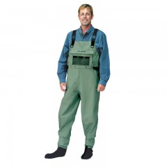 Streamside Duraweave breathable fishing chest wader with stocking feet