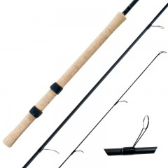 Streamside float Steelhead fishing rods with chromium D-ring guides