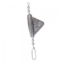 Keel sinkers with lead body and stainless steel chain and snap