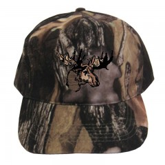 Backwoods Pure Camo hunting cap with moose logo