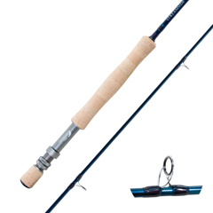 Streamside Tranquility fly fishing rod with SiC guides