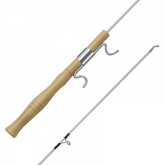 wooden rod with line and lure, wood rod with line and lure, ice rod with line and lure, ice wooden rod with line and lure, ice wooden rod, rigged wooden rod, rigged rod for ice fishing, ice fishing wooden rod with line and lure, ice fishing rigged wooden rod, medium light action ice rod, medium ligh