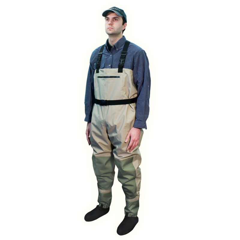 Streamside spirit breathable chest wader cg emery for Fishing waders on sale