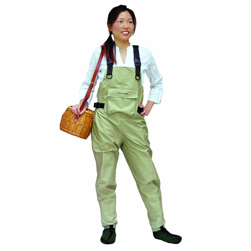 Streamside quadra tex women 39 s chest wader cg emery for Youth fishing waders