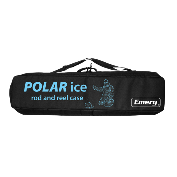 Fishing ice rod and reel case shoulder straps cg emery for Ice fishing pole case