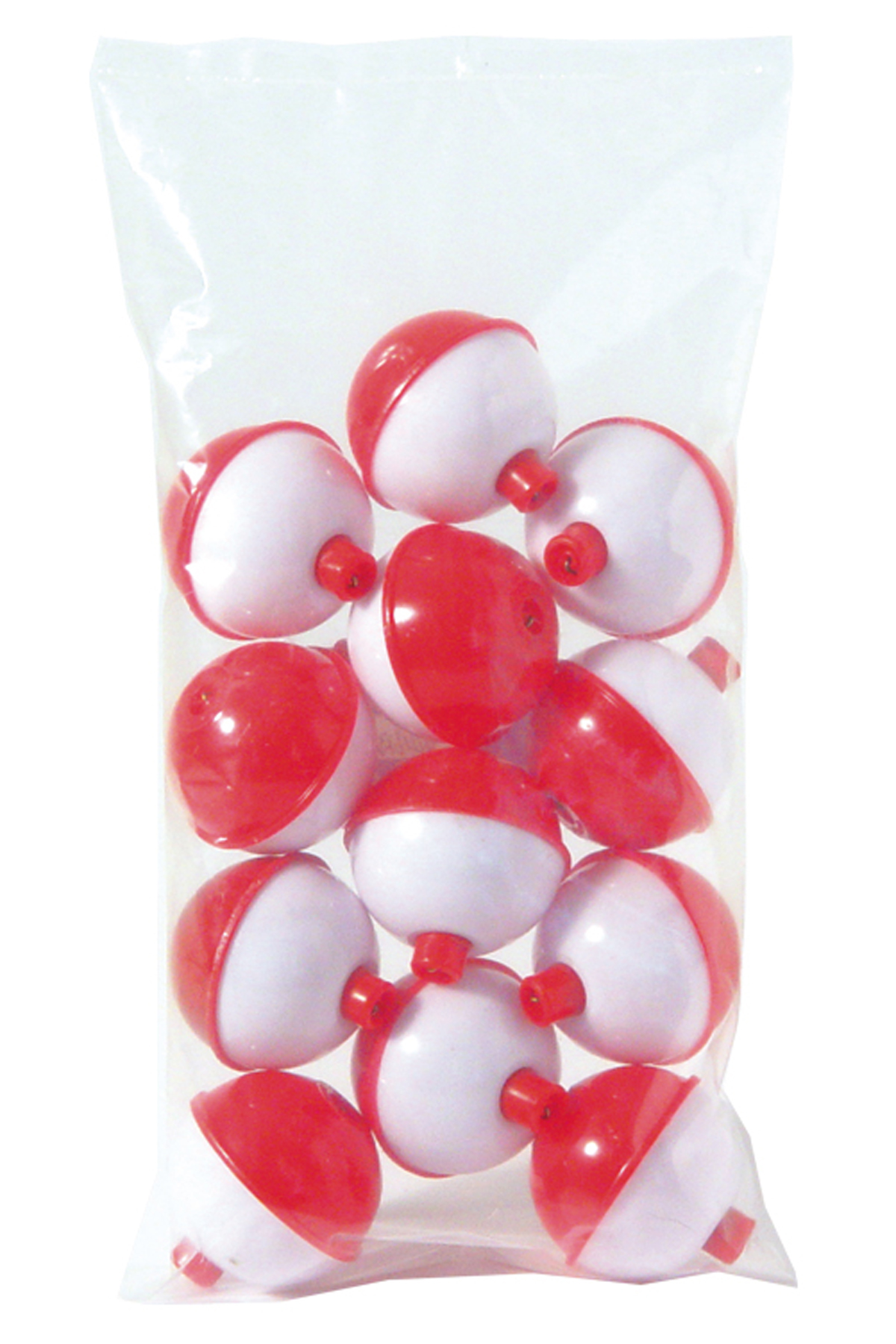 Fishing bobbers floats tackle red white plastic 50 pack for Fishing bobbers bulk