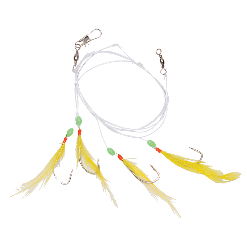 Fishing tackle rig sabiki feathered hooks cg emery for Sabiki rig fishing