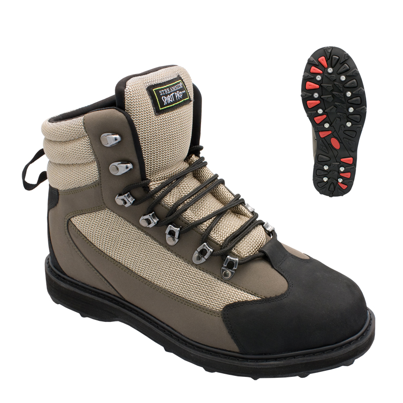 Streamside spirit pro wading boots cg emery for Fishing waders with boots
