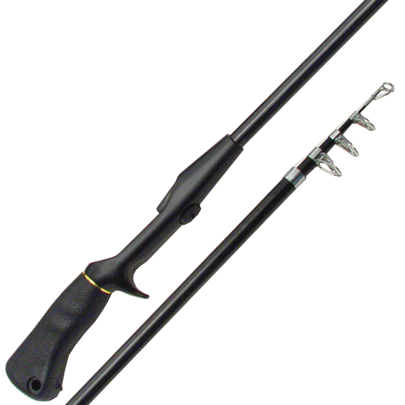 Telescopic spincast rod medium light action cg emery for Light fishing rods