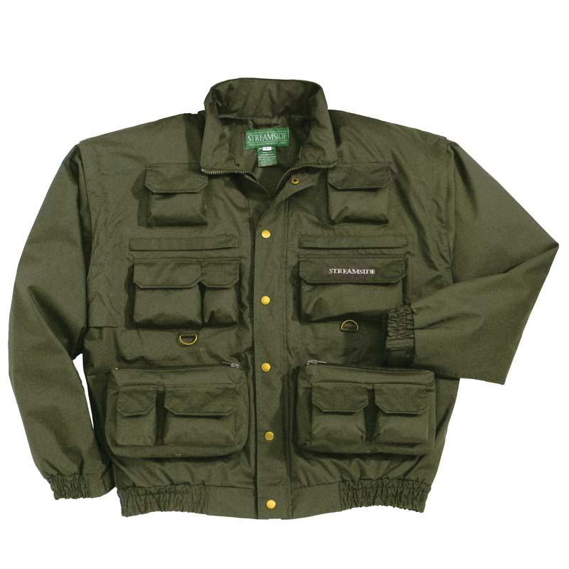 Fishing jacket vest waterproof removable sleeves hood cg for Waterproof fishing clothing