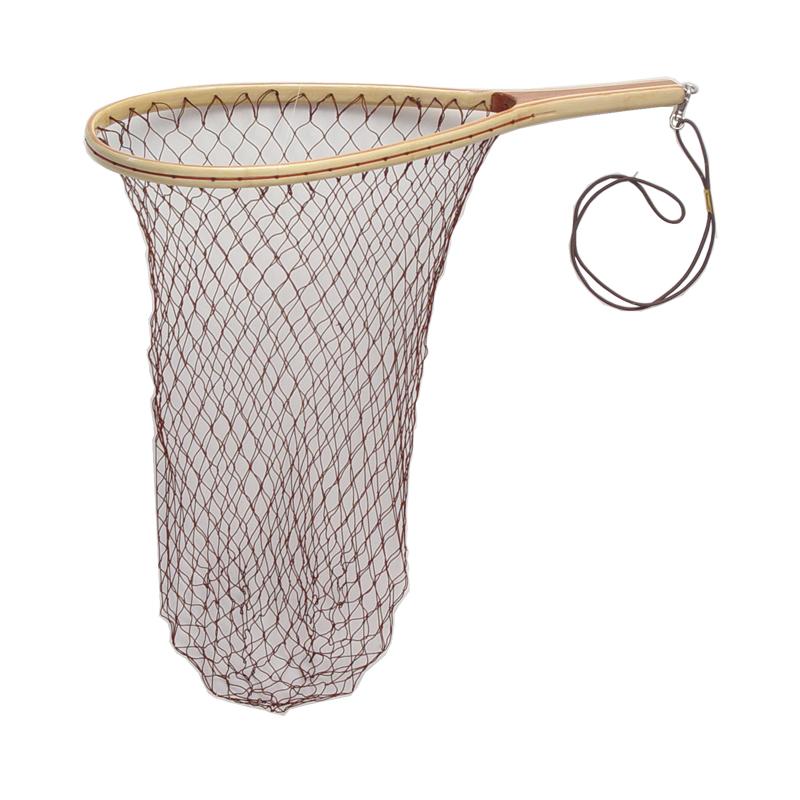 Fishing gear equipment net wood soft mesh teardrop cg emery for Wooden fishing net
