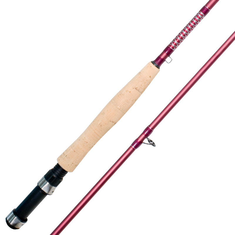 Ladies fly fishing rod stainless steel snake eye guides for Steel fishing rod