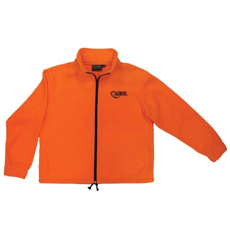 Fleece blaze orange hunting jacket children youth zipper - CG Emery
