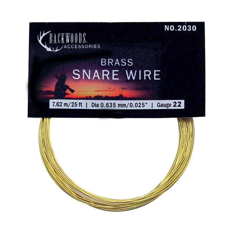Rabbit snare wire hunting small game brass Canada - CG Emery