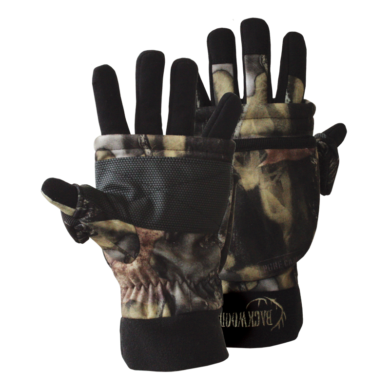 hunting gloves camo fold back mitt waterproof