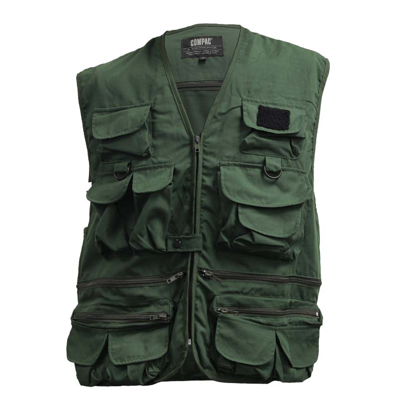 Fishing vest by compac 25 pockets cg emery for Kids fishing vest