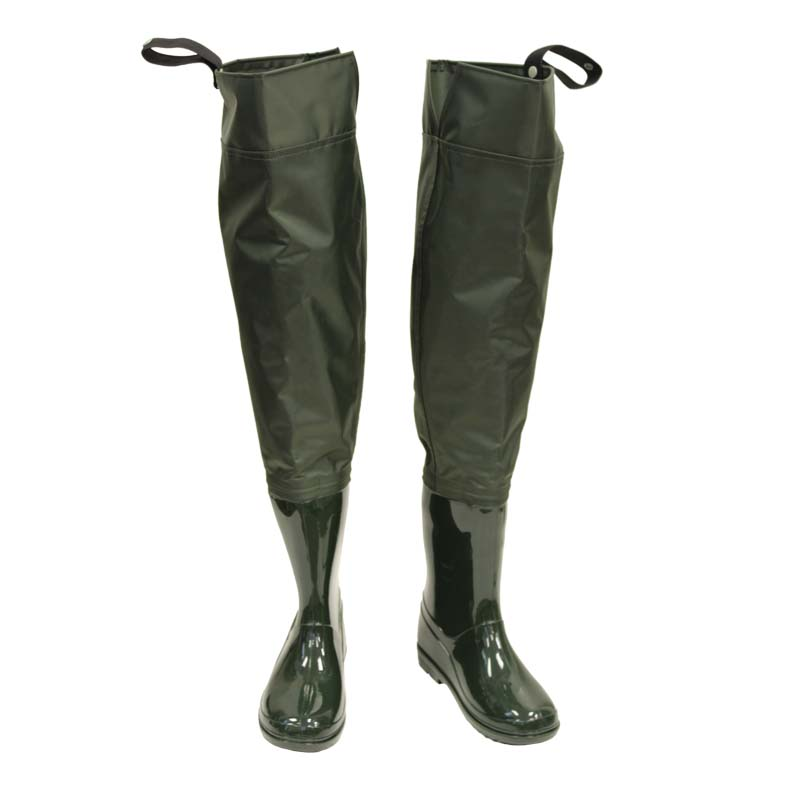 Kids nylon pvc hip waders cg emery for Fishing waders with boots