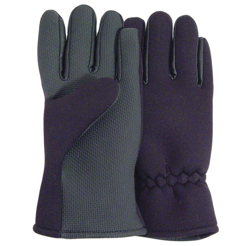 Fishing gloves neoprene full fingered black cg emery for Neoprene fishing gloves