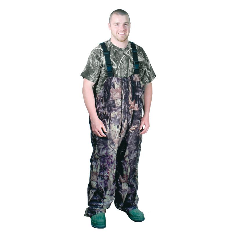 Hunting camo lightweight suspender bib pants waterproof for Lightweight fishing pants