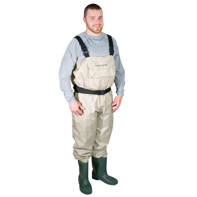 Breathable wader fishing chest pvc boot cleated sole cg for Fishing waders on sale