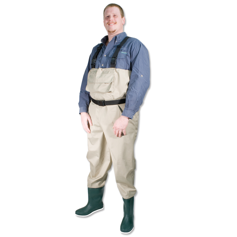 Breathable wader chest for fishing pvc boot felt sole cg for Youth fishing waders