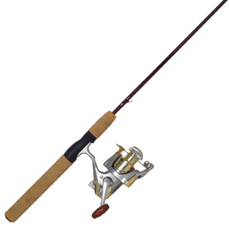 Fishing spinning rod reel combo cork handle cg emery for Cork fishing rod handles