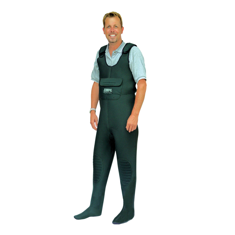 Neoprene fishing chest wader with stocking foot cg emery for Fishing waders on sale