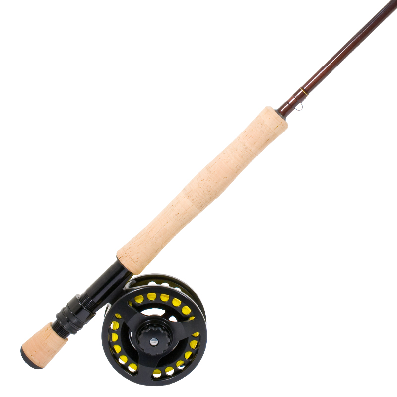 prespooled fly fishing rod reel combo cg emery