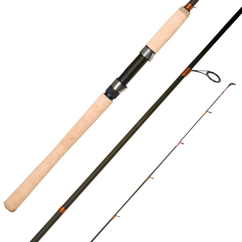 salmon float fishing rods alox guides cork handle cg emery