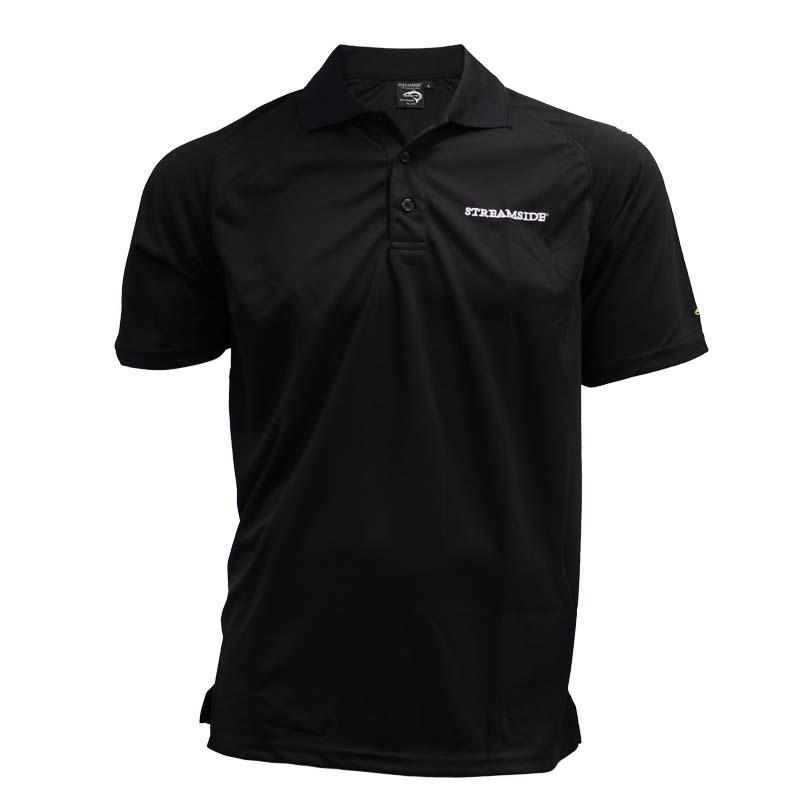 ca9c81b0af94cc Fishing clothing apparel t shirt polo black - CG Emery