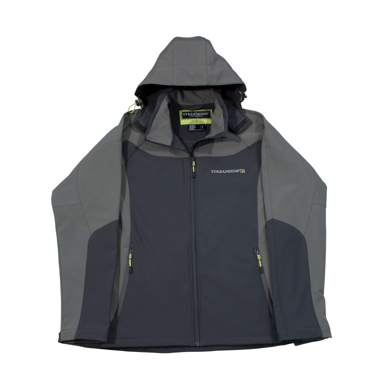 Softshell fishing jacket waterproof fleece lined hood for Waterproof fishing jacket