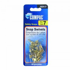 Compac Carded Barrel Swivels with Safety Snaps