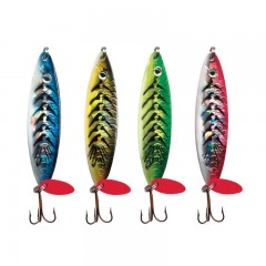 Fishing tackle gear lures holographic crocodile two toned rigged