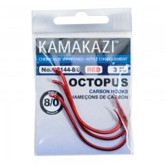 Fishing tackle hooks gear octopus red carbon