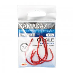 Fishing tackle hooks gear circle red carbon