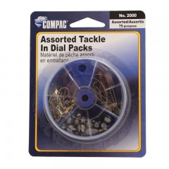 Fishing tackle dial boxes convenient with hooks, sinkers, swivels - Hooks | Treble, baitholder, kirby, carlisle, snelled