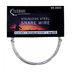 Snare rabbit wire for hunting, brass, braided, stainless steel - Canadian outdoor hunting supplies accessories