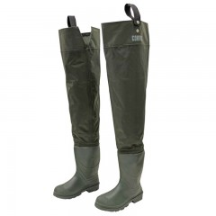 Hip waders nylon PVC cleated sole