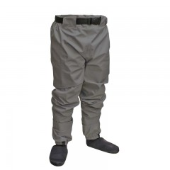 Breathable fishing waist waders polyester neoprene booties