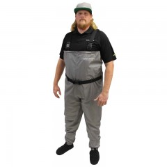 Breathable fishing waders polyester neoprene booties