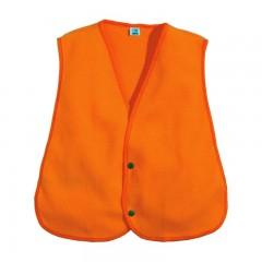 Backwoods blaze orange silent microfleece safety vest