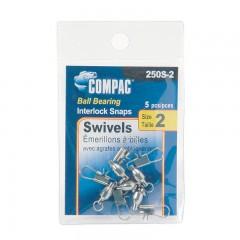 Compac Nickel Ball Bearing Swivels with Interlock Snaps