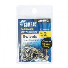 Compac Nickel Welded Ball Bearing Swivels with Interlock Snaps